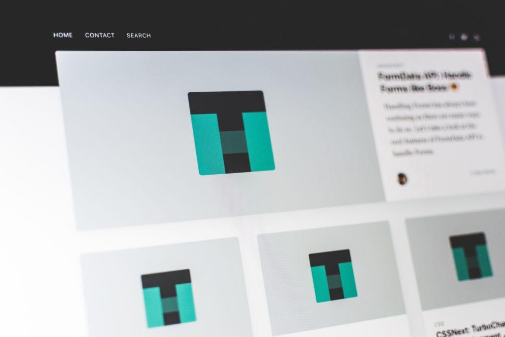 website writing design homepage