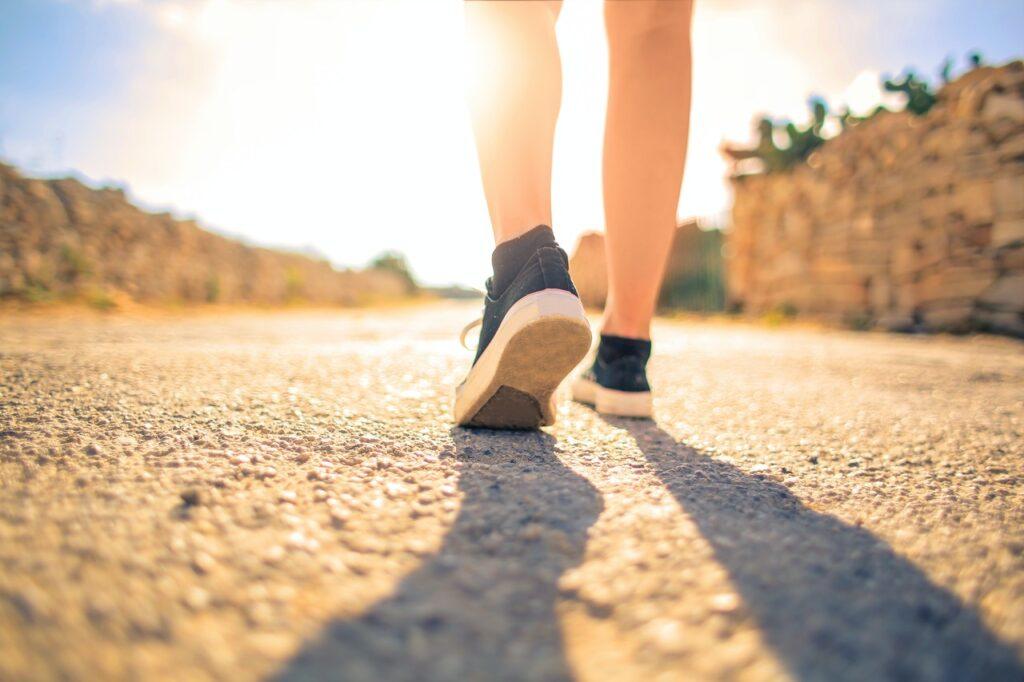 walking in the sunshine