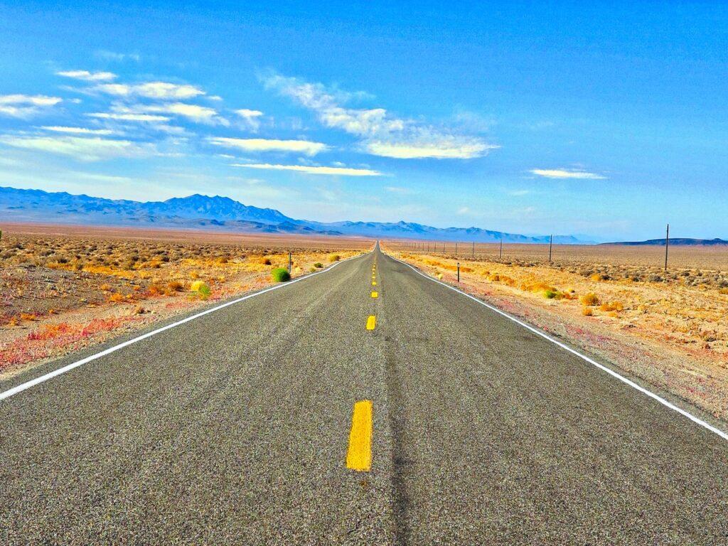 Long road into the horizon